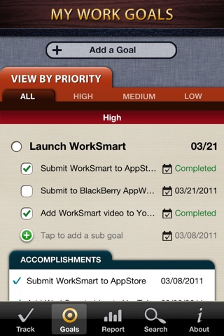 WorkSmart Lite - Manage your career, job accomplishments, and business goalsのスクリーンショット3