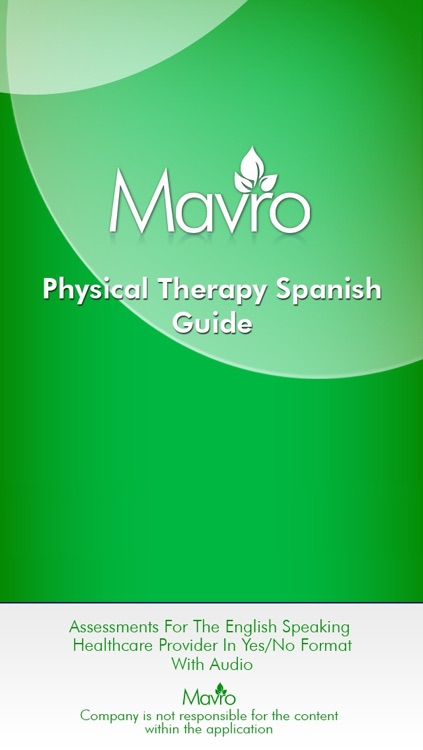 Physical Therapy Spanish Guide (PTSG)