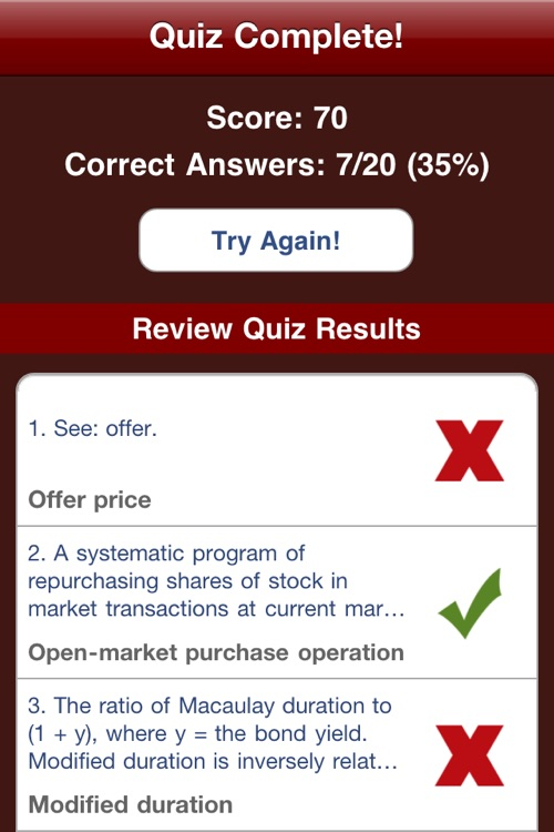 Financial Terms, Flashcards, & Quiz screenshot-4