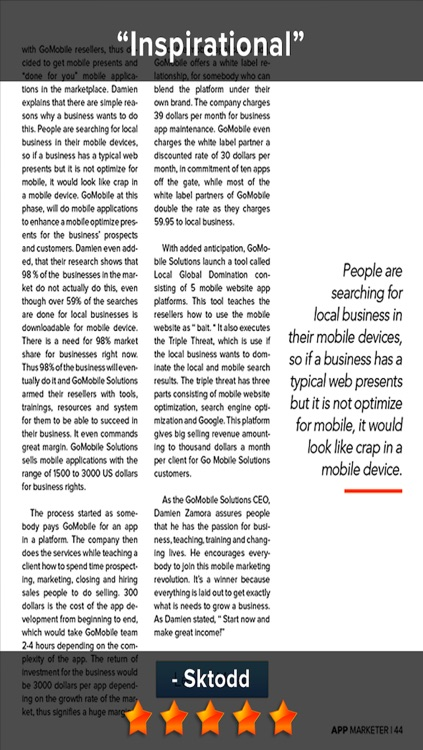 App Marketer Magazine - The Ultimate Guide To Indie iPhone App Game Development, Programming, Design And Marketing That Mobile Entrepreneurs Have Wired In Their Business To Double Downloads And Make A Fortune screenshot-3