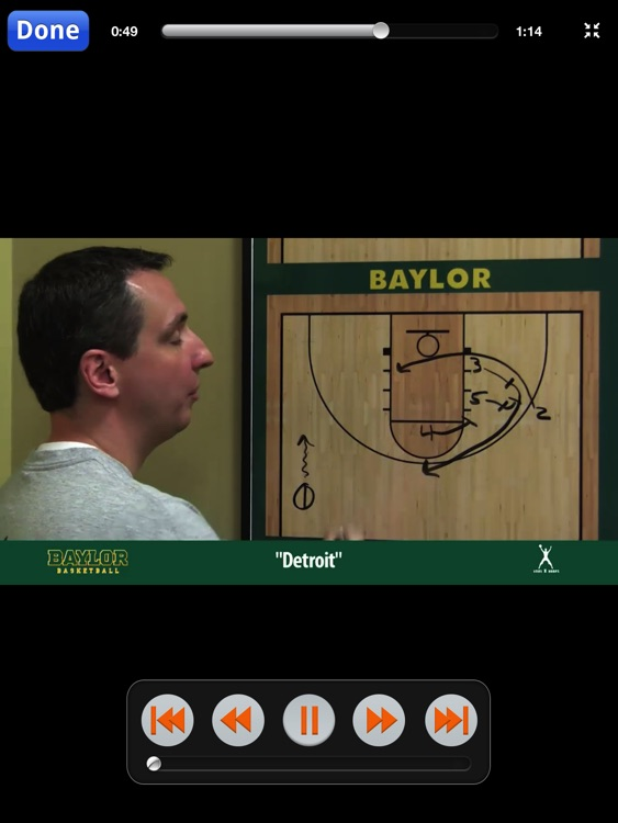 Baylor Man To Man Quick Hitters - With Coach Scott Drew - Full Court Basketball Training Instruction - XL screenshot-4