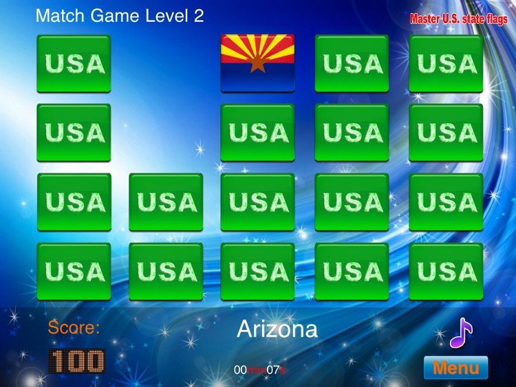 Master USA State Flags HD screenshot-4