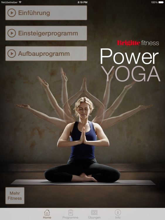 Brigitte Fitness - Power Yoga HD screenshot-0