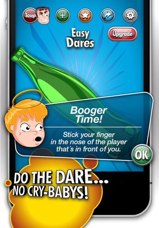 Spin 'n Dare-Spin the Bottle. The best dare game for you party. Laugh for hours. Free!