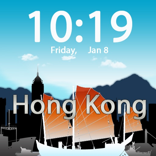 Clockscapes Hong Kong - Animated Clock Display icon