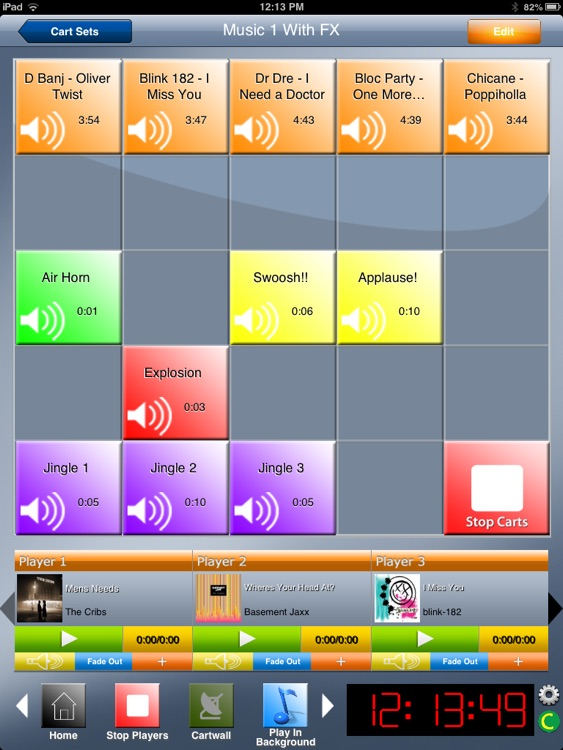 Instant Audio Cartwall Soundboard PRO for iPad screenshot-0