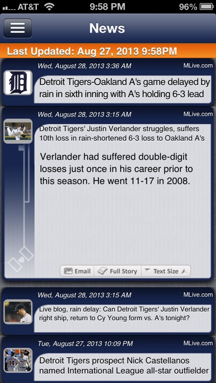 Detroit Baseball Live screenshot-3