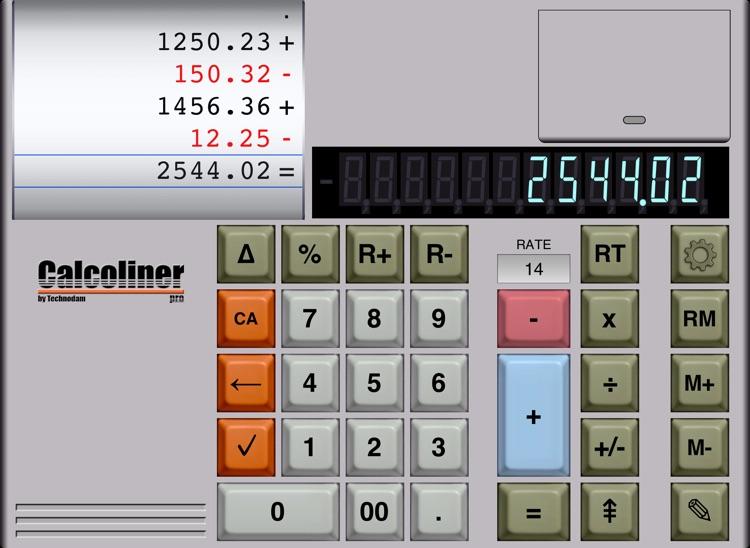 CalcolinerPro - The professional tape calculator