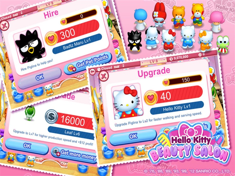 Hello Kitty Beauty Salon HD screenshot-4