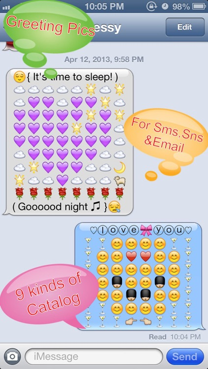 Emoji 3 Emoticons Free + Photo Captions Collage - 200+ New Smiley Symbols & Icons for Messages & Emails