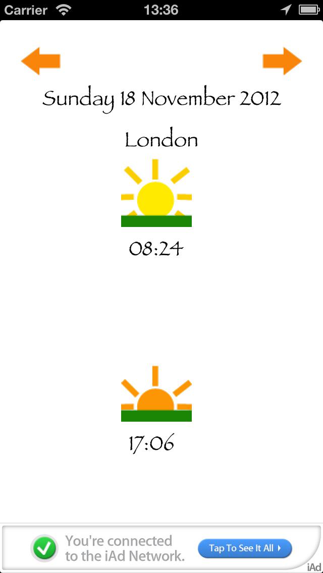Sunrise sunset Calculatorのおすすめ画像1