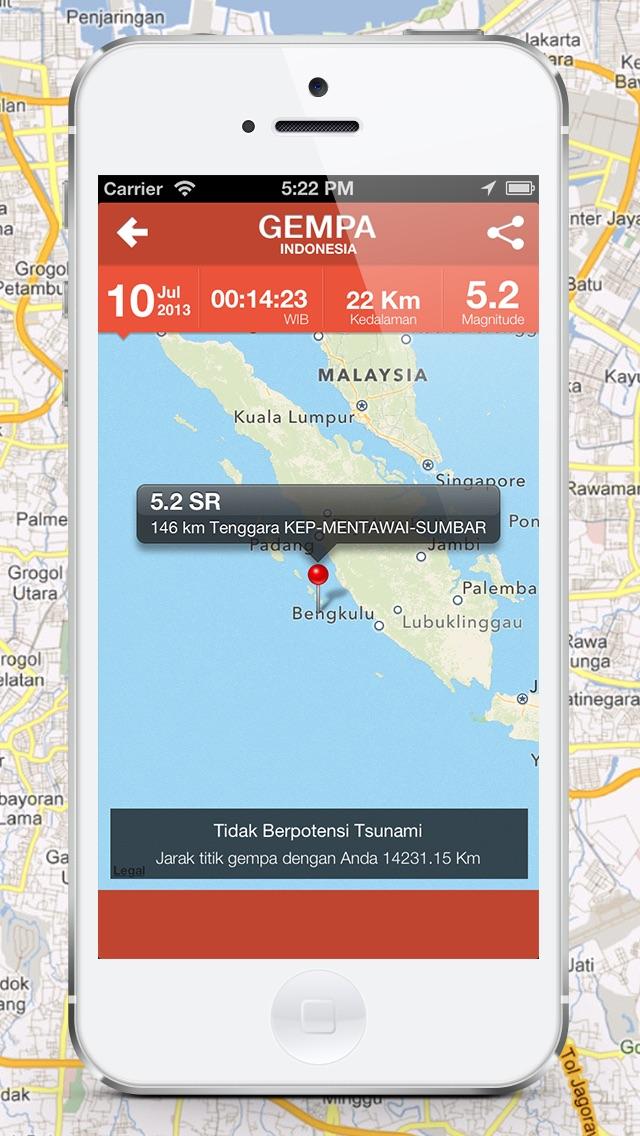 Gempa Indonesia iPhone