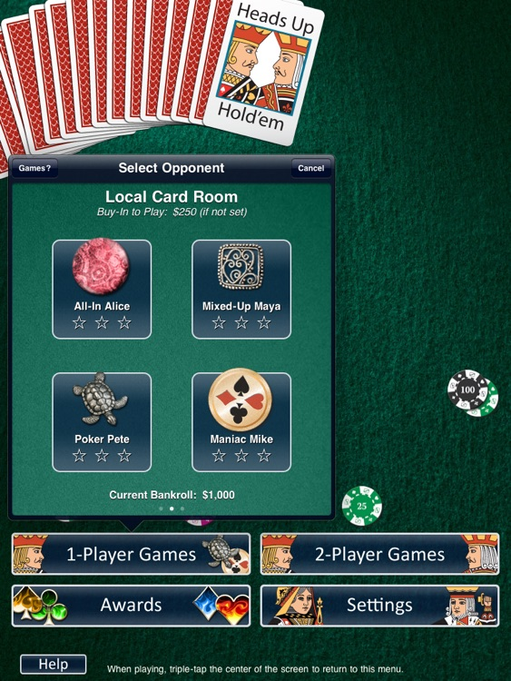 Heads Up: Holdem HD (1-on-1 Poker) screenshot-3