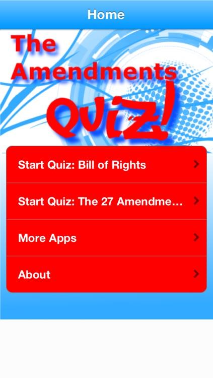 The Amendments Quiz