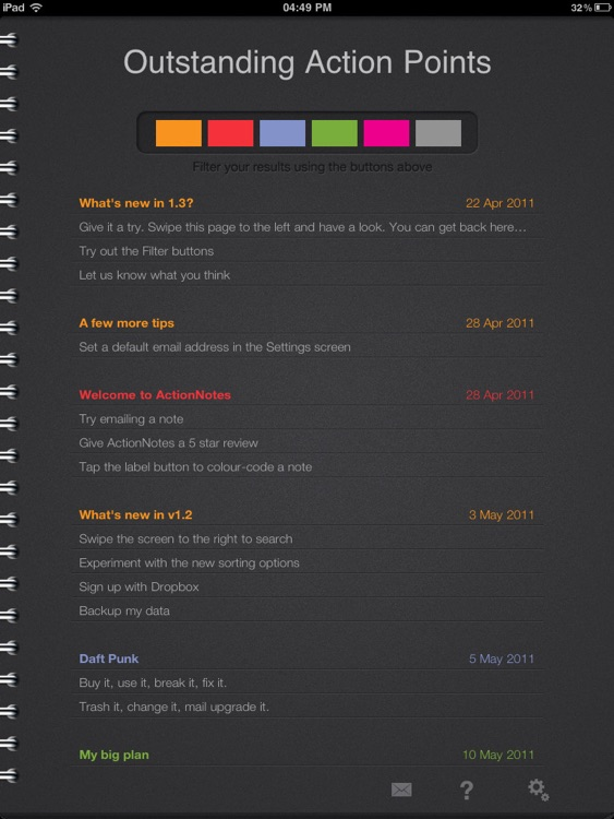 ActionNotes screenshot-4