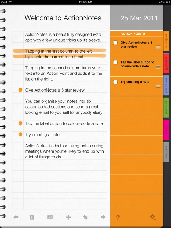 ActionNotes screenshot-0