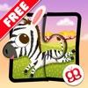 野生の動物 ジグソーパズル 123 (無料版) - 子供用の楽しい言語学習ゲーム