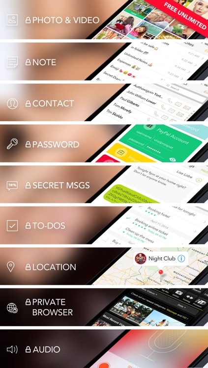 Pic Lock 4 Ultimate - Secure Folder Manager to Protect Photo Lock + Video Safe + Note + Password Security to Sending Secret Text Messages from Secret Contact Lock All Private Data Keep in App screenshot-3