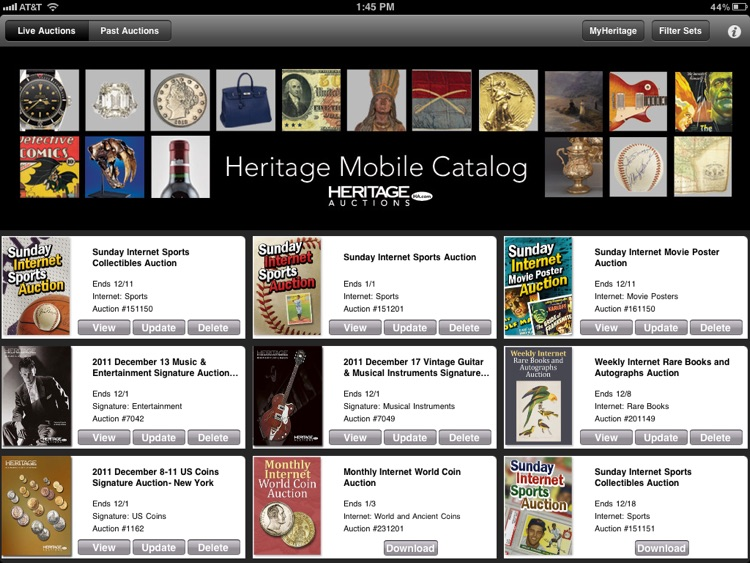 Heritage Mobile Catalog