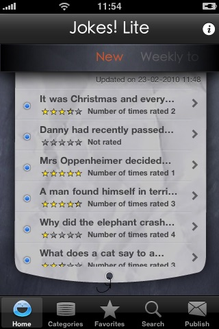 Jokes! Lite  The world's best jokes app screenshot-0