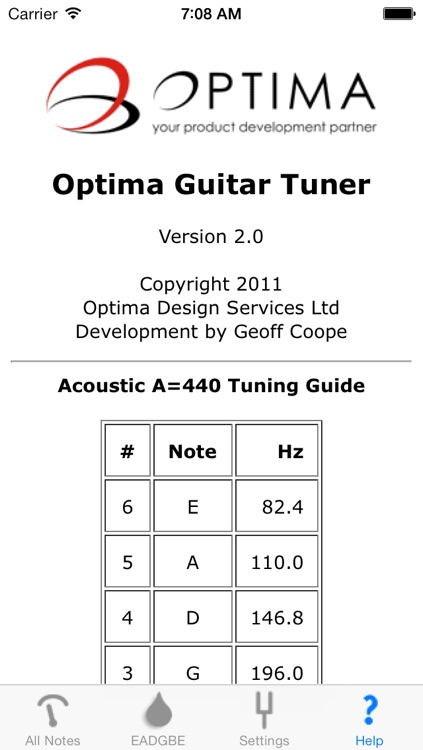 Optima Guitar Tuner screenshot-3