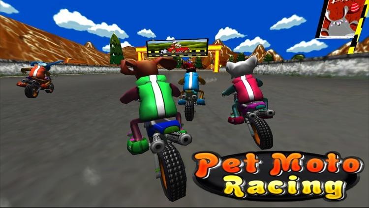 Pet Moto Racing ( 3D bike kids games ) screenshot-4