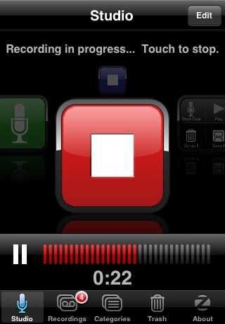 SpeakEasy Voice Recorder screenshot two