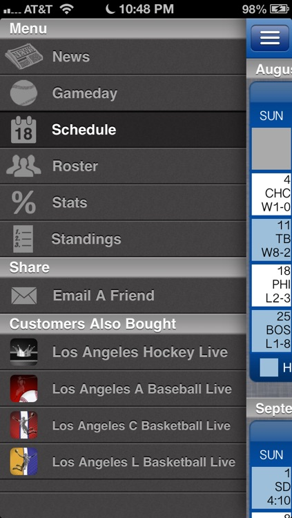 Los Angeles D Baseball Live