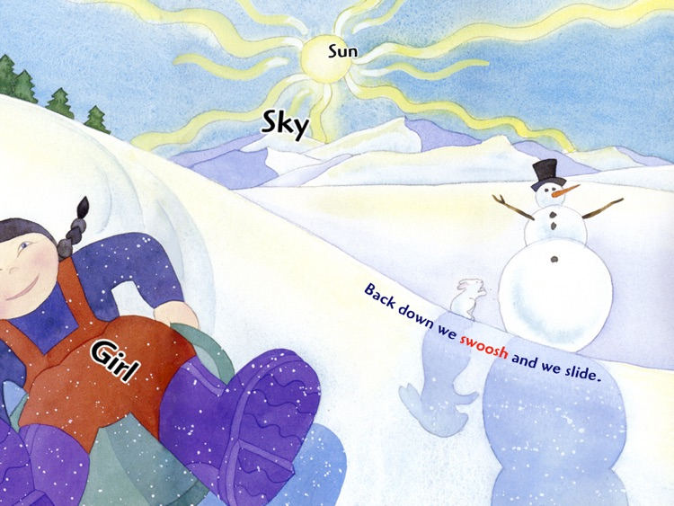 """Winter Is: teach your child about the joys of the winter season in this interactive kid's book by Ann Dixon (""""Lite"""" Free Trial of an Auryn App) screenshot-3"""