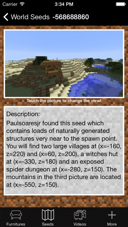 Furniture and Seed Guide for Minecraft screenshot-3