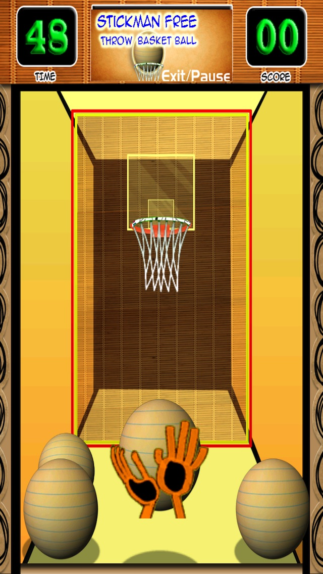 A Stickman Free Throw Basketball Game