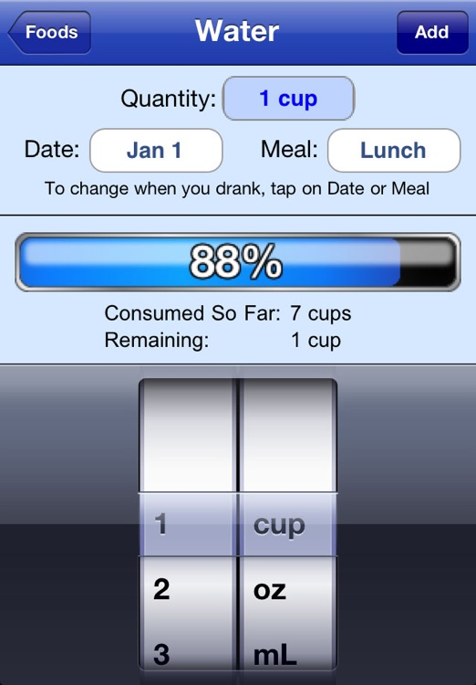 Nutrition Menu - Calorie, Exercise, Weight & Water Tracking screenshot-4