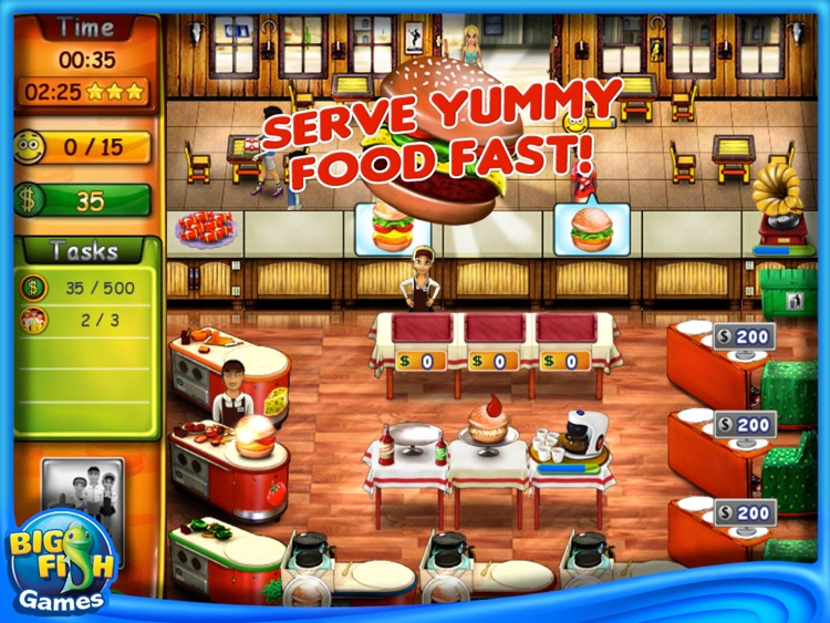 Burger Bustle HD screenshot-1