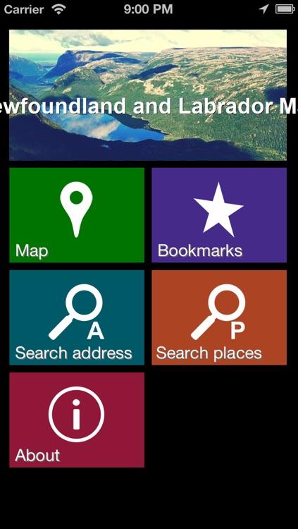 Newfoundland and Labrador Map - World Offline Maps