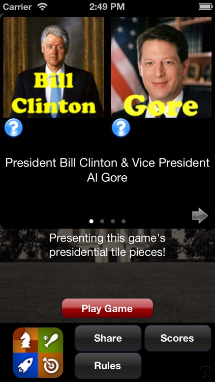 Running Mates - Presidents & Vice Presidents Game