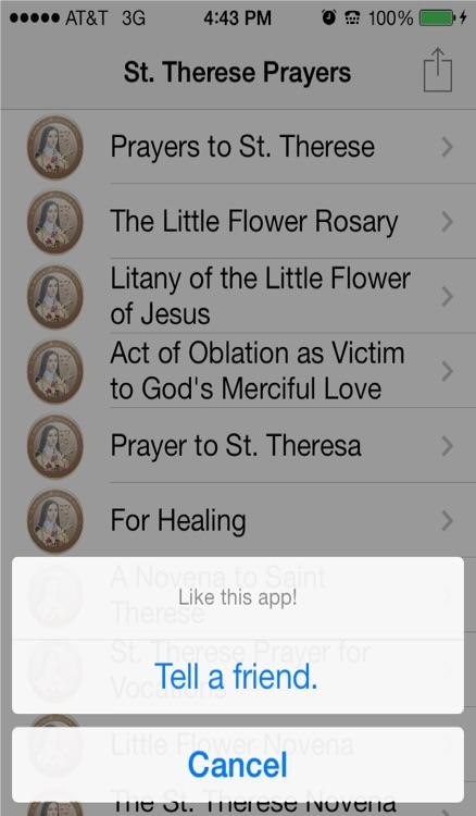 Saint Therese Prayers screenshot-3