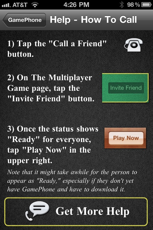 GamePhone - Free voice calls and text chat for Game Center screenshot-3