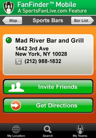 FanFinder - Sports Bar Locator screenshot-3