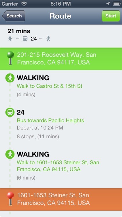 vTransit - USA public transit search