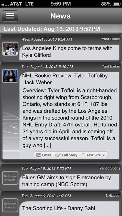 Los Angeles Hockey Live screenshot-3