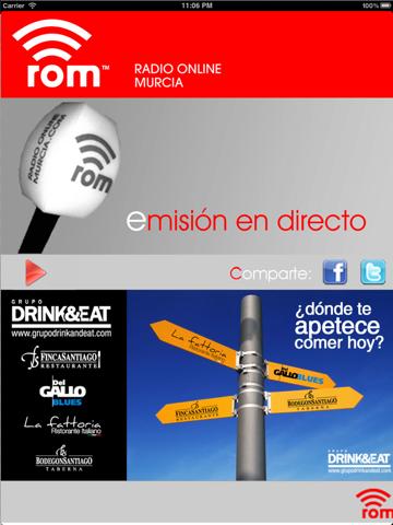 Radio Online Murcia screenshot 2