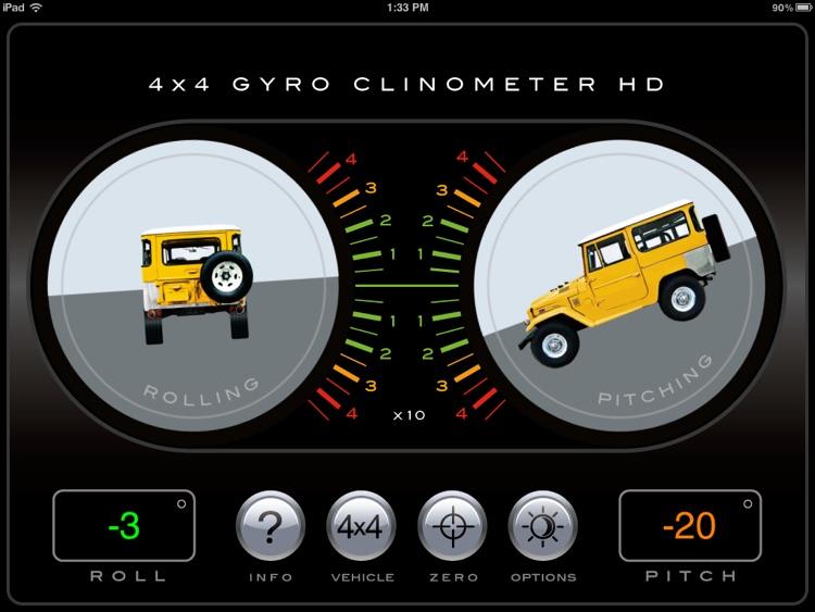 4x4 Gyroscope Clinometer HD screenshot-3