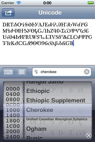 Unicoder Lite screenshot three