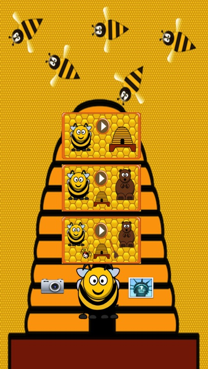 Beehive Maze Race (bee against the bear) screenshot-4