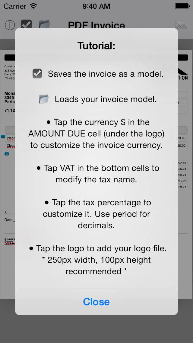 Simple Invoice Maker Create PDF From Your IPhone App Price Drops - Invoice maker with logo