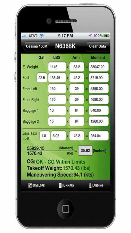 Aviation W&B Calculator