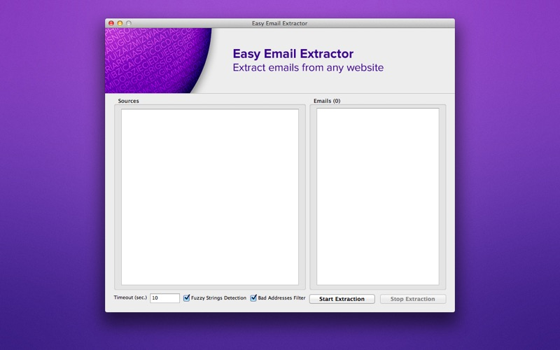 Easy Email Extractor review screenshots