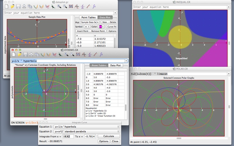 Screenshots for Graphmatica