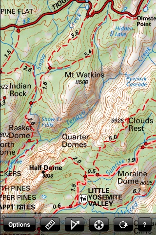 Yosemite National Park Recreation Map screenshot-4