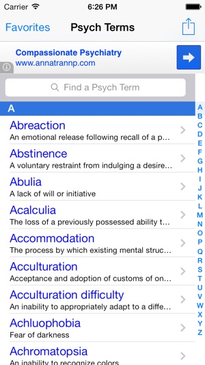 Psych Terms: Medical Dictionary and Terminology Pocket Glossary for